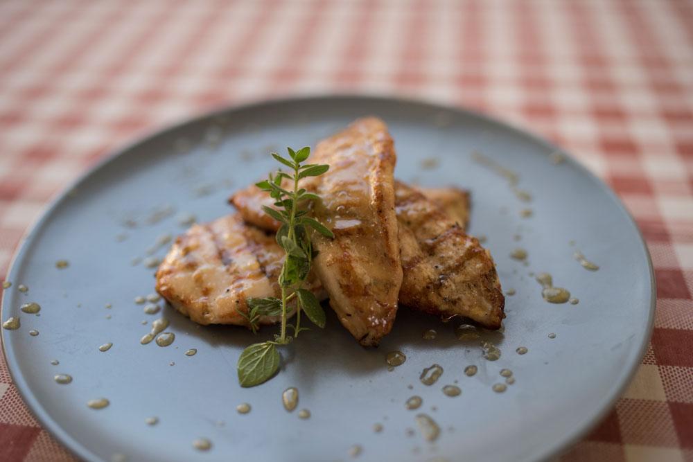 Φιλέτο κοτόπουλο με μαρμελάδα λεμόνι